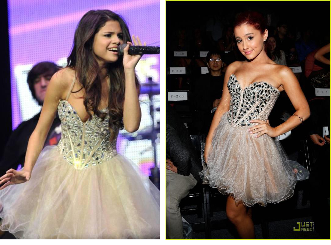 Seeing Double: Selena Gomez and Ariana Grande Dual in Tulle